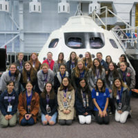 3. Senior students Dec2016 JSC VIP tour with Orion Capsule-web